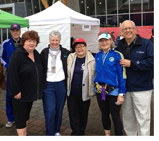 Lois & Gilles Bouchard with MLA Linda Reid & MP Alice Wong