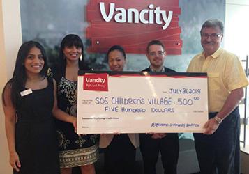 Vancity Cheque Presentation