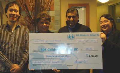 Accent Inns Cheque Presentation